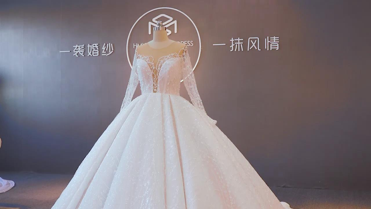 Sequin Wedding Dress ZZbridal 2020 New Collection