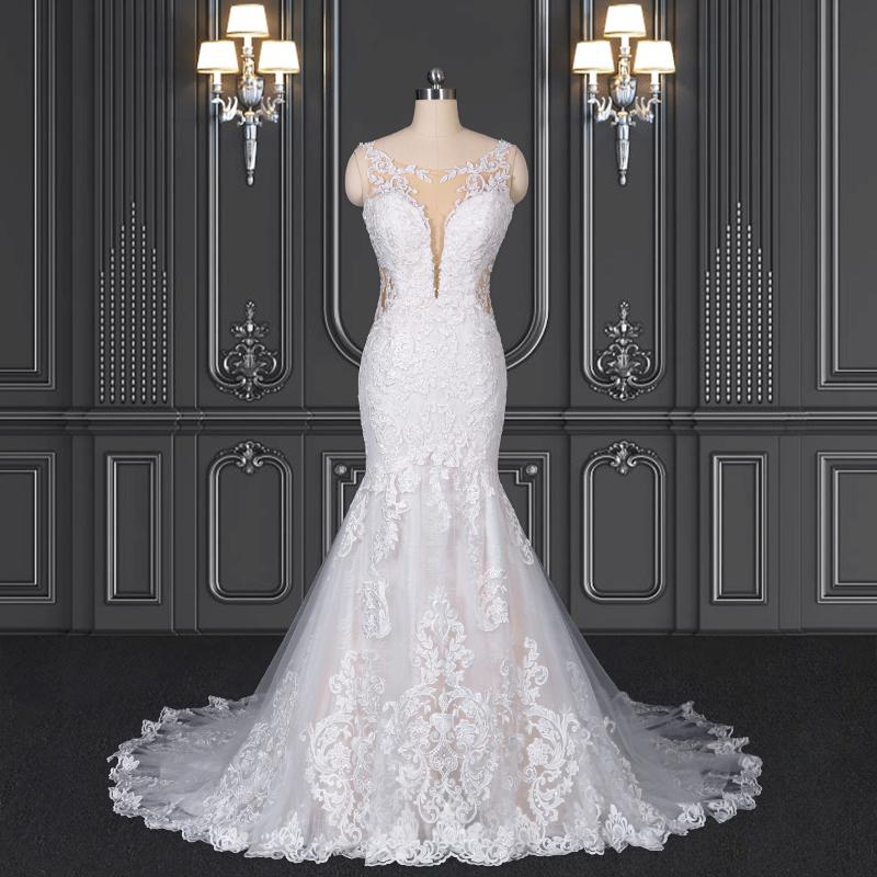 2021 ZZbridal boho style lace bohemian bridal dress