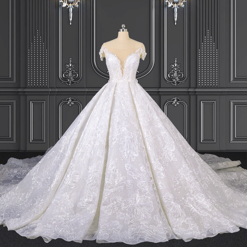 2021 ZZbridal lace ball gown princess wedding gown