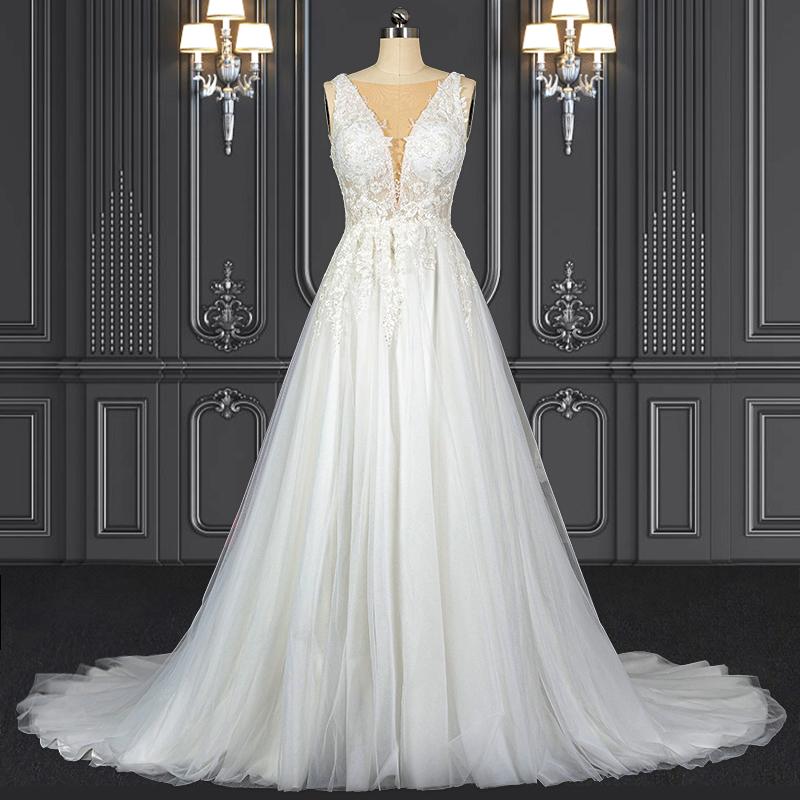2021 ZZbridal boho style bridal gown bohemian wedding dress