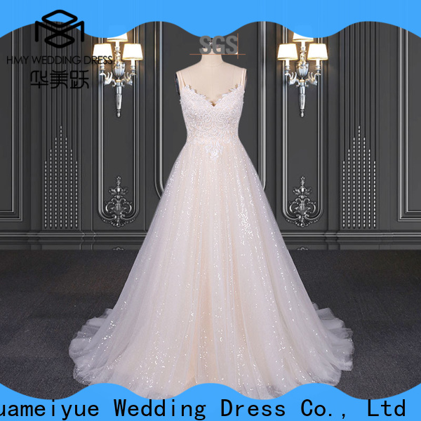 HMY Custom lace wedding dresses for sale Supply for brides