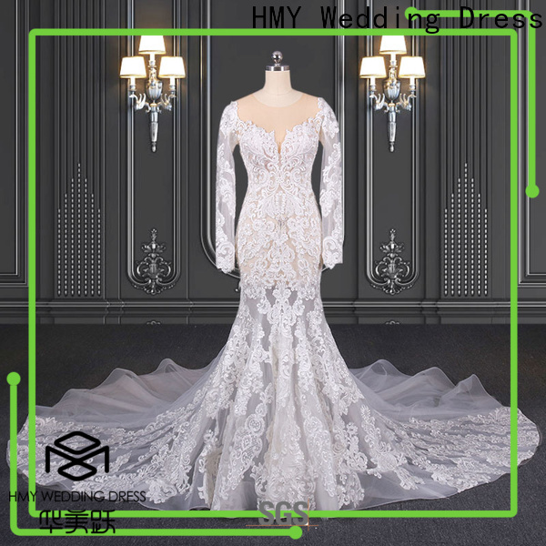 HMY Top affordable wedding dress websites Supply for wedding party