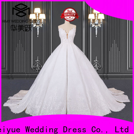 HMY chiffon wedding dress for business for wedding party