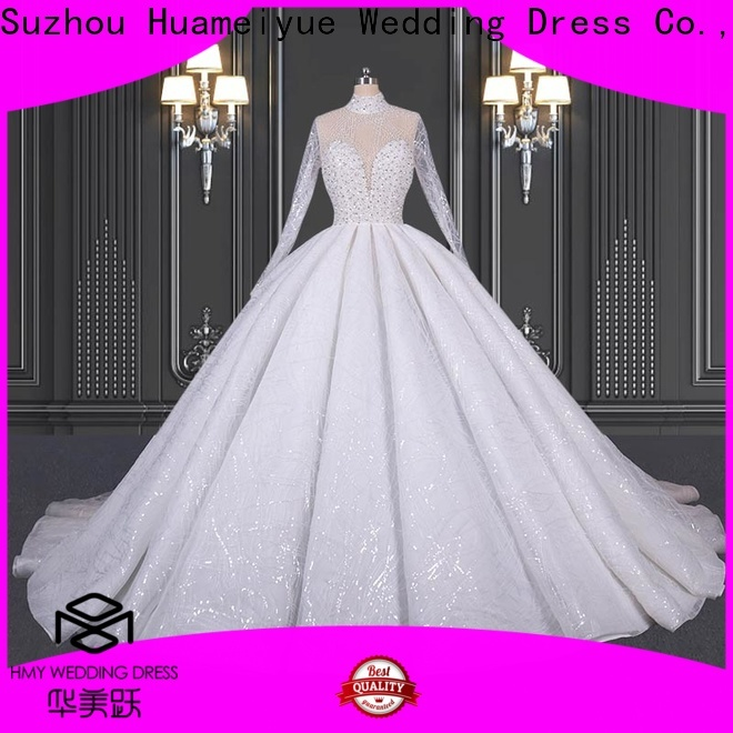 HMY Wholesale wedding frocks white company for boutiques