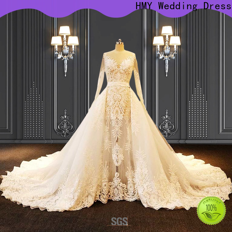 HMY Custom wedding gowns and their prices factory for boutiques