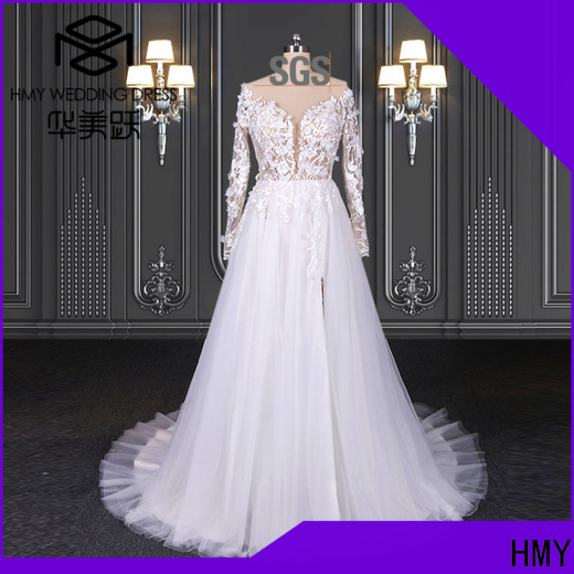 HMY Wholesale plus size bridal gowns for business for wedding party