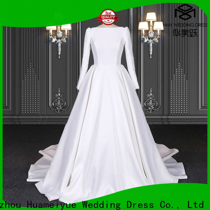 HMY casual wedding dresses company for brides