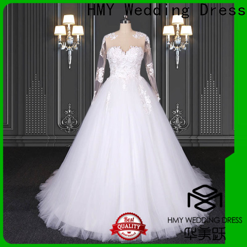 HMY New white wedding gown online shopping factory for wholesalers