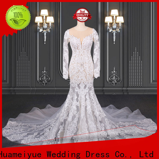 HMY lace wedding dresses for sale manufacturers for wholesalers