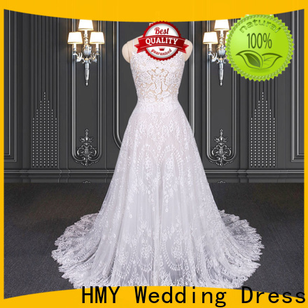Custom white wedding gowns with sleeves company for brides