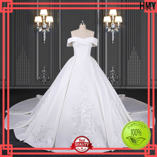 HMY New simple bridal gown factory for wedding dress stores