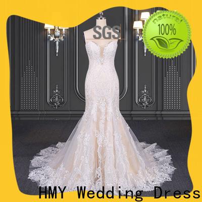 Best boho v neck wedding dress company for wedding party