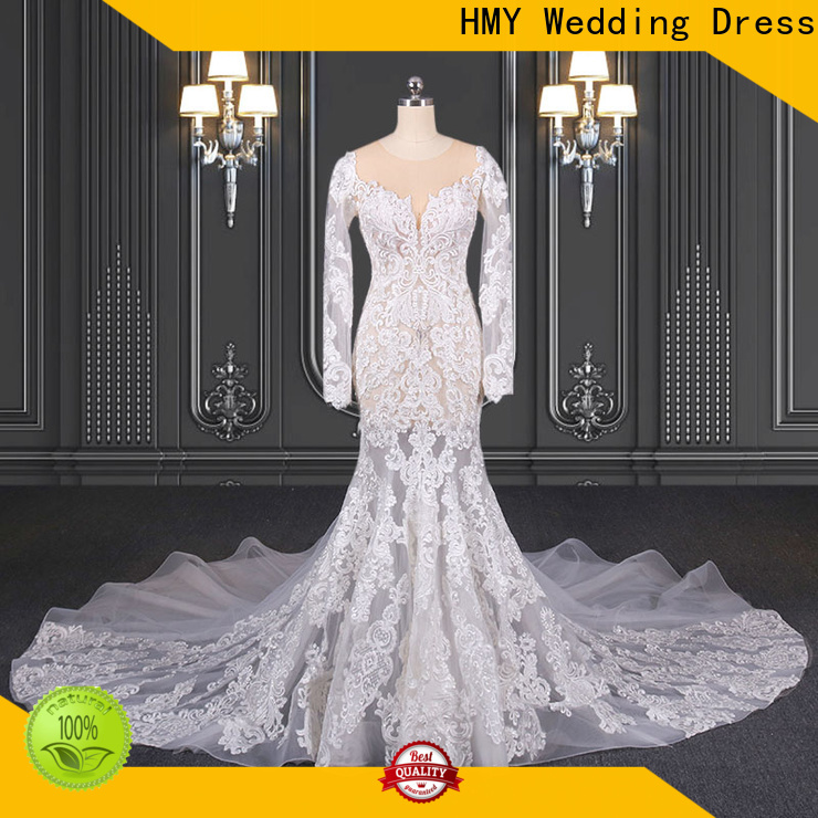HMY wedding dress with sleeves boho manufacturers for wedding party