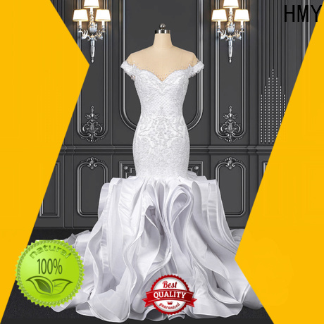 HMY lace hippy wedding dress manufacturers for brides